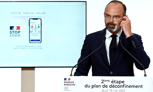 French Prime Minister Édouard Philippe during a televised address in Paris last week.